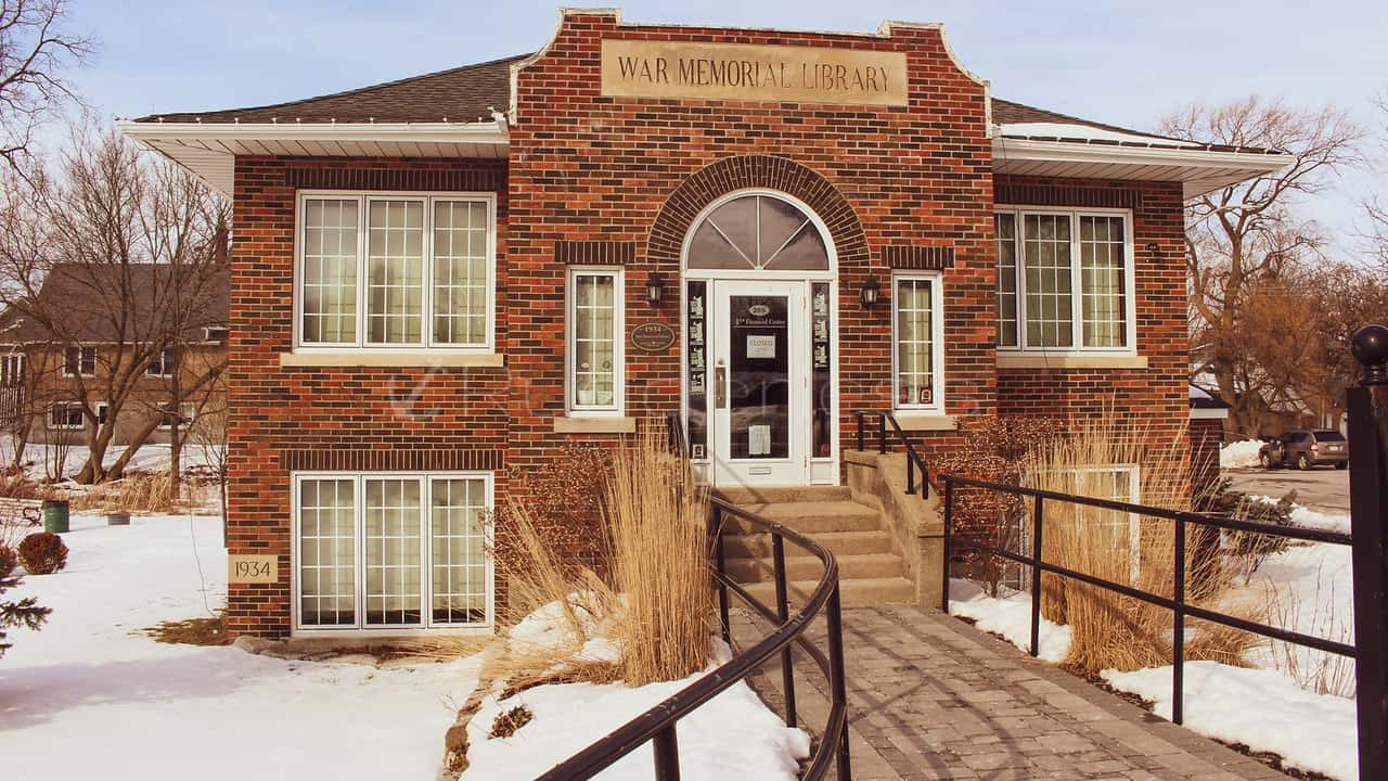 port perry history - war memorial library